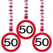 Folat 50 jaar versiering stopbord 9x stuks