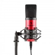 MIC-900-RD Microfone Condensador de Estúdio USB Vermelho
