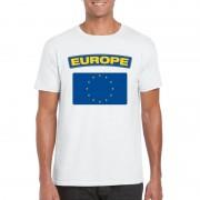 Bellatio Decorations Europese vlag shirt wit heren