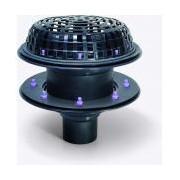 Sifon Kessel 48370.02, Ecoguss Roof drain diametru 75 heated 2xflange