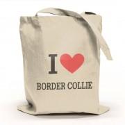 I Love Border Collie Tygpåse
