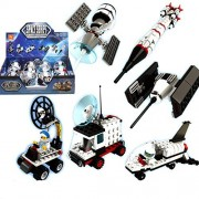 IBEST 6 Pack Assemble Space Shuttle Building Kit Space Exploration Creative Construction Toy NOT LEGO