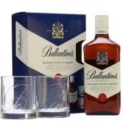 BALLANTINE'S CU DOUA PAHARE 0.7L