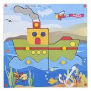 Skillofun Wooden Theme Puzzle Standard Ship Knobs, Multi Color