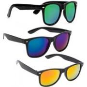 Hotexo Wayfarer Sunglasses(Green, Yellow, Blue)