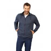 Sweatjacke mit Reißverschluss, Farbe blau-melange, Gr. XL