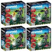 Playmobi L Ghostbusters 4 Pcs. Set 9346 9347 9348 9349 Ghostbuster Egon Spengler + Peter Venkman Raymond Stantz Winston Zeddemore