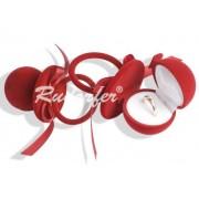 Piros színű, cumi alakú ékszertartó doboz
