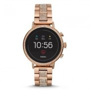 FOSSIL SmartWatch FOSSIL Venture HR Rose Gold-Tone Stainless Steel FTW6011