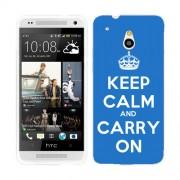 Husa HTC One Mini Silicon Gel Tpu Model Keep Calm Carry On