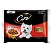 Cesar 12 x 100 g en bolsitas: Selección en salsa o en gelatina - Selección en gelatina