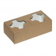 Suport din Carton pentru 2 Pahare, 100 Buc/Bax