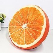 CREW4 Soft Creative 3D Printed Orange Fruit Pillow Round Soft Plush Sofa Car Seat Pad Decor Toys Sponge Cushion