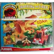 Jurassic Park Junior Playskool Tracking the T-Rex playset (inc. Tyrannosaurus Rex, Dino capture vehicle, human...