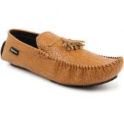 Footista Mens Tan Loafers