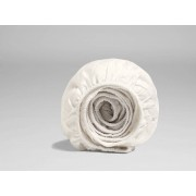 Yumeko Hoeslaken katoen satijn warm white 180x200x30