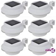 vidaXL Bijela vanjska solarna svjetiljka zidna svjetiljka 6 kom