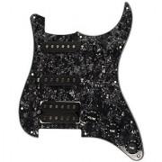 1pkg Loaded Prewired Pickguard Black Pearl SSH Fender Strat Replacement Guitar Part