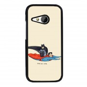 Y&M HTC M8 Cell Phone Case Batman And Super Man Pattern Cover (Multicolor)