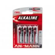 Ansmann LR6 AA RED - 4buc baterie alcalina 1,5V
