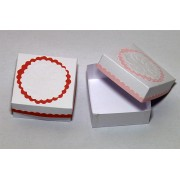 Cutiute marturii pentru bomboane, forma patrata, culoare rosie
