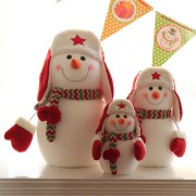 1PC Christmas Party Home Decoration Red Hat Snowman Doll Ornament Toys For Kids Children Gift