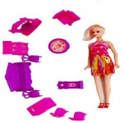 Fitment Small Interior Designer Doll Pretty House Baby Play Set ( Pink) Toys & Games