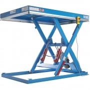 Handlings-Hubtisch Tragfähigkeit 1000 kg Hubbereich 220 - 1220 mm, Plattform-LxB 1500 x 1200 mm