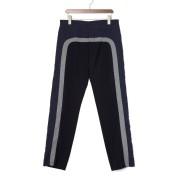 【71%OFF】異素材切替 テーパードパンツ ネイビー 48 ファッション > メンズウエア~~パンツ
