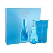 Davidoff Cool Water confezione regalo Eau de Toilette 100 ml + lozione per il corpo 75 ml + doccia gel 75 ml da donna