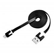 Cable De Datos IPhone 5 / Ligthing Jyx Accesorios Genérico Plano - Blanco/Negro