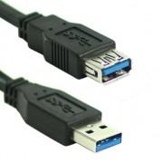 Verlengkabel USB 3.0 Male to female 1.8 meter zwart