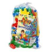 Cuburi constructii colorate pentru copii 40 piese mixte Multicolore