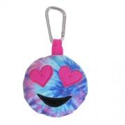 Emoji Backpack Clip Tie Dye Heart Eye Plush
