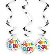 Geen 12x Happy Birthday rotorspiralen