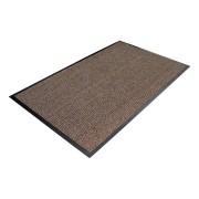 Hnědá textilní čistící vnitřní vstupní rohož - délka 60 cm, šířka 90 cm a výška 0,7 cm