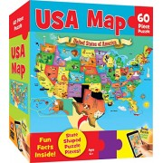 MasterPieces Puzzle Company USA Map Jigsaw Puzzle (60-Piece)