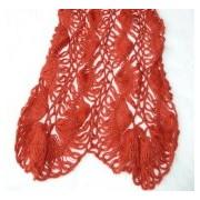 sciarpa uncinetto a forcella lana kid mohair - rosso
