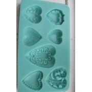 Silkonform - Hjärtan 7 olika 1 form