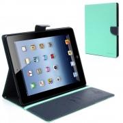 Mercury Pouzdro / kryt pro Apple iPad 2 / 3 / 4 - Mercury, Fancy Diary Mint/Navy