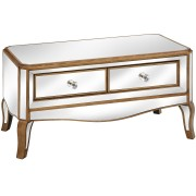 Venetian Mirrored Coffee Table With 2 Drawer