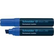 Permanent marker SCHNEIDER Maxx 280 varf tesit 4-12mm Albastru
