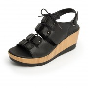 Sandalia Flexi Para Mujer Plataforma - 44504 Negro