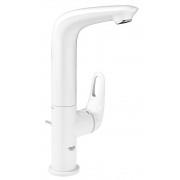 Baterie lavoar Grohe Eurostyle marimea L culoare alb, furtune flexibile,maner decupat-23569LS3