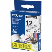 Ламинирана лента Brother TZ-131 Tape Black on Clear Laminated 12mm - Eco - TZE131