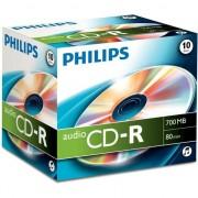 Medii de stocare philips CD-R, 80minut, 10 de piese de caz Jewel (CR7AONJ10 / 00)