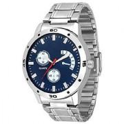 idivas 105 tc 8n Blue Dial Stainless Steel Watch- For Men 6 month warranty