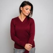 Női pulóver bordó színben 10281