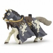 Figurina Papo-Cal calaret negru cu ax