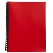 MARBIG REFILLABLE DISPLAY BOOK A4 20 POCKET RED